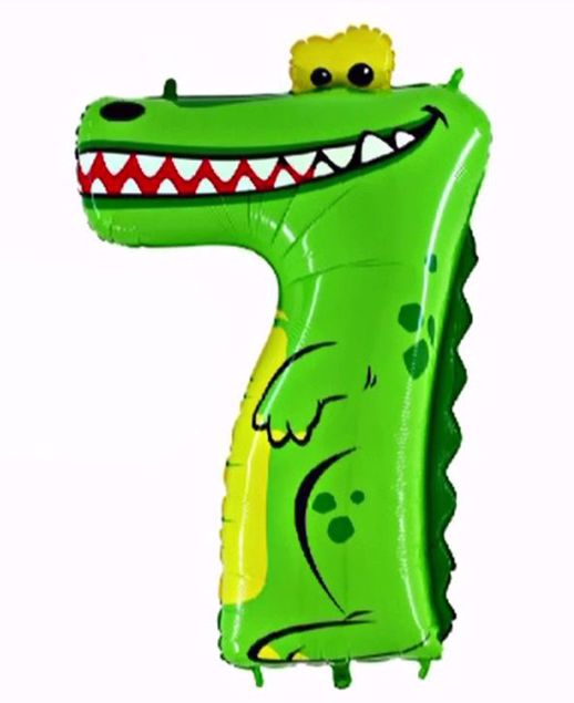 """Picture of Folienballon Animaloons """"7"""" Krokodil"""