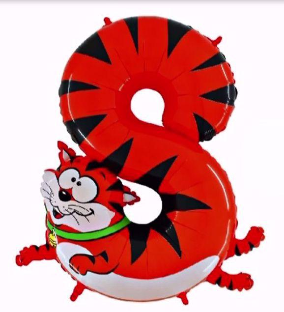 """Bild von Folienballon Animaloons """"8"""" Katze"""
