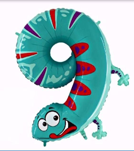 "Picture of Folienballon Animaloons ""9"" Gecko"