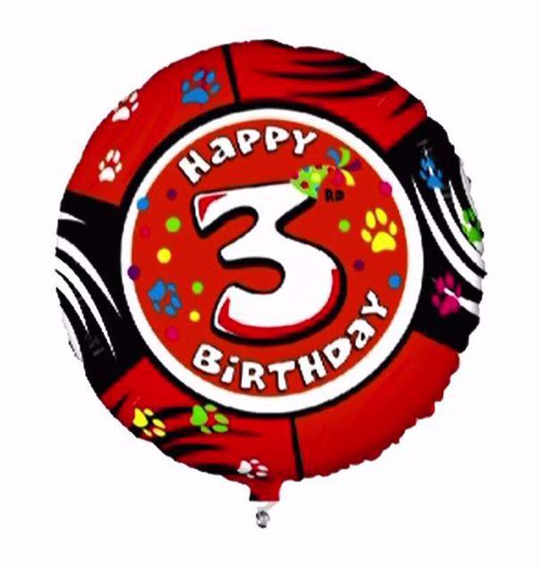 """Bild von Folienballon Animaloons """"3"""""""