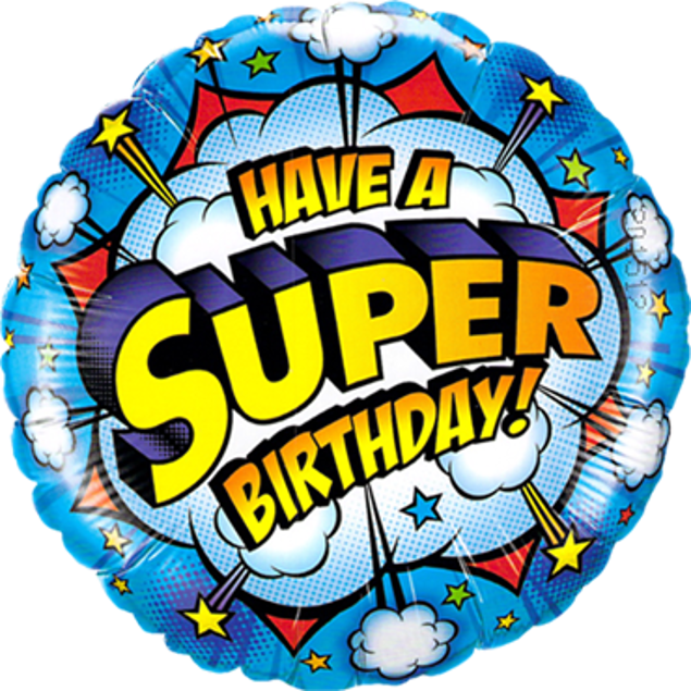 Picture of Folienballon Have a super Birthday!