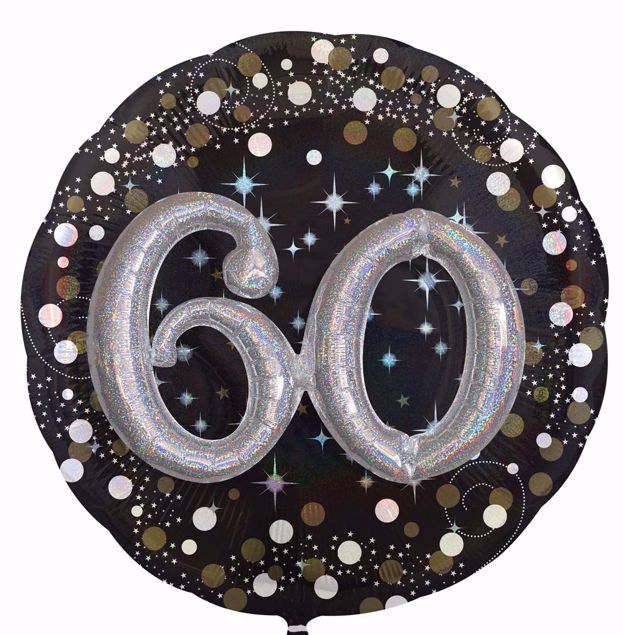 Picture of Folienballon Multi-Balloon Sparkling Birthday 60