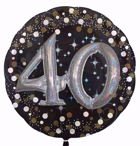 Picture of Folienballon Multi-Balloon Sparkling Birthday 40