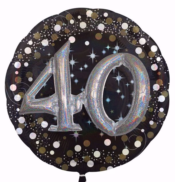 Picture of Folienballon Multi-Balloon Sparkling Birthday 40