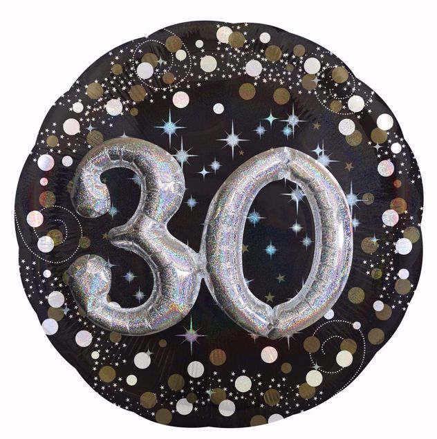 Picture of Folienballon Multi-Balloon Sparkling Birthday 30
