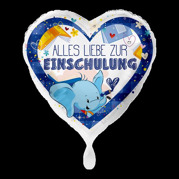 """Picture of Folienballon """"Alles Liebe zur Einschulung"""" Blau"""