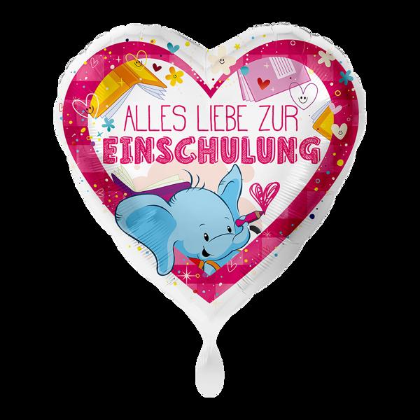 """Picture of Folienballon """"Alles Liebe zur Einschulung"""" Pink"""