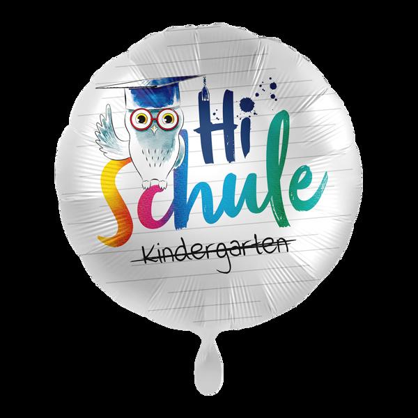 """Picture of Folienballon """"Hi Schule"""" Eule"""
