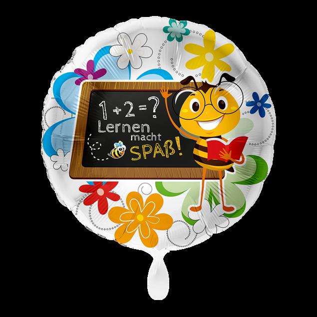 """Bild von Folienballon """"Lernen macht Spaß"""" Biene"""