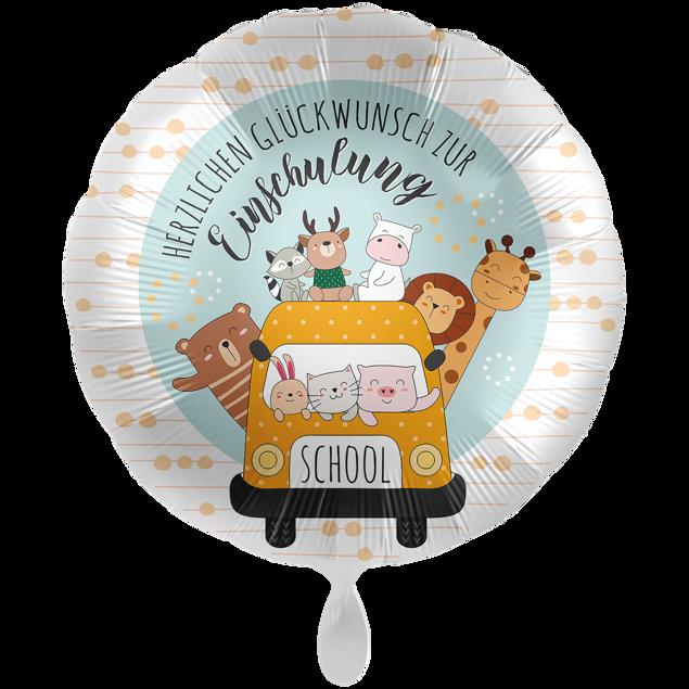 Picture of Folienballon XXL Schulbus glückliche Tiere