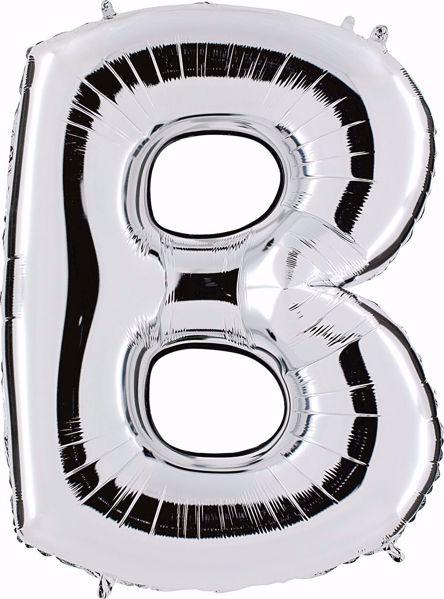Picture of Folienballon B Silber Buchstabe XXL