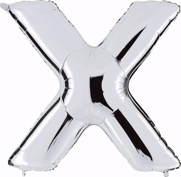 Picture of Folienballon X Silber Buchstabe XXL