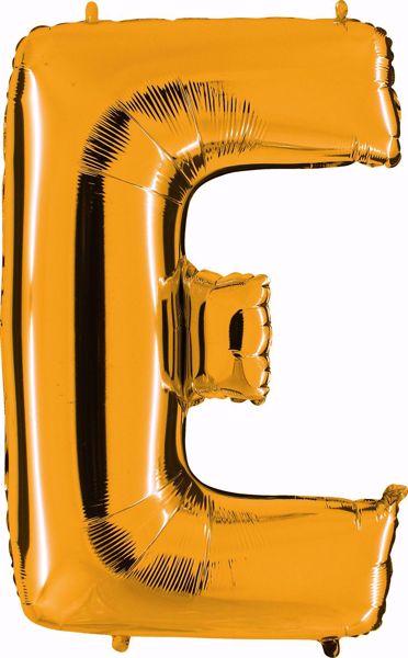 Bild von Folienballon E Altgold Buchstabe XXL