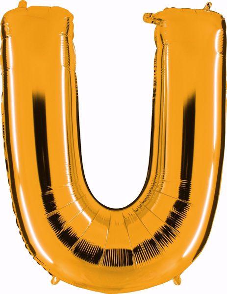 Picture of Folienballon U Altgold Buchstabe XXL