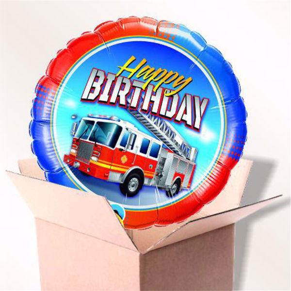 Picture of Folienballon Birthday Fire Truck im Karton