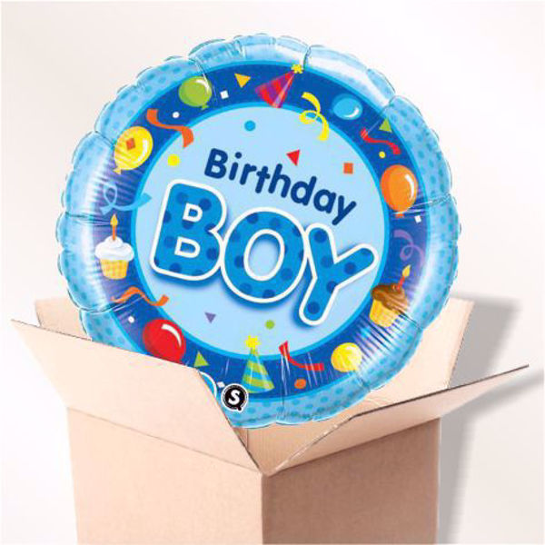 Picture of Folienballon Birthday Boy im Karton
