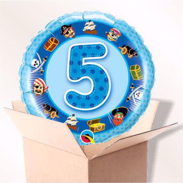 Picture of Folienballon Alter 5 blau im Karton