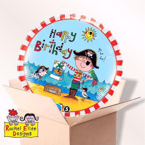 Picture of Folienballon Happy Birthday Pirat im Karton