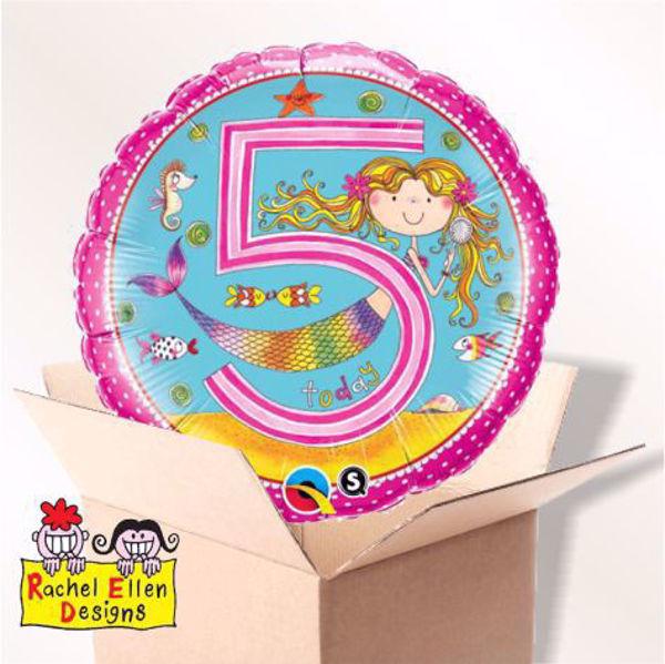 Picture of Folienballon Alter 5 Meerjungfrau im Karton