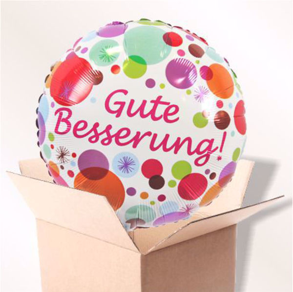 Picture of Folienballon Gute Besserung bunt im Karton
