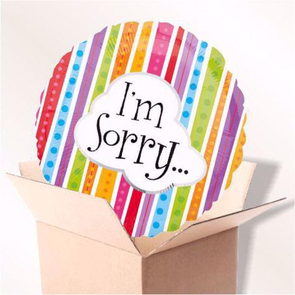 Bild von Folienballon I'm sorry im Karton