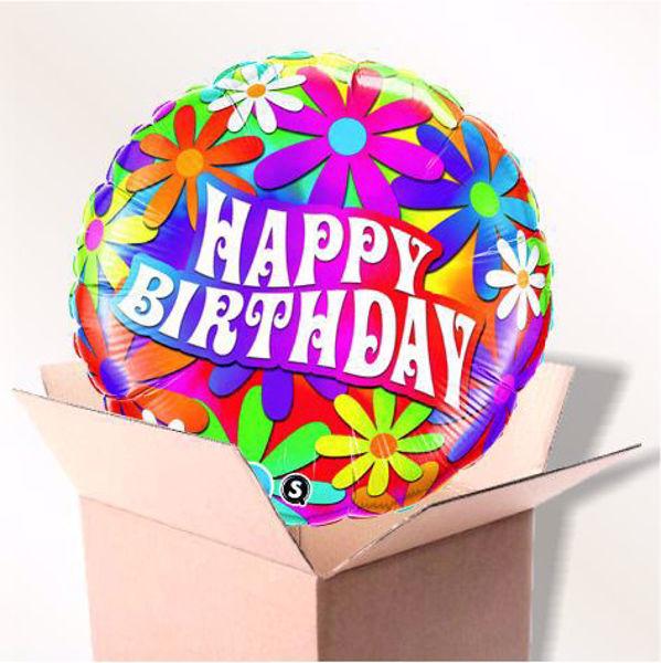 Bild von Folienballon Happy Birthday Daisie im Karton