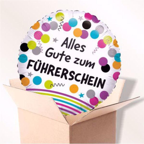 Picture of Folienballon Alles Gute zum Führerschein im Karton