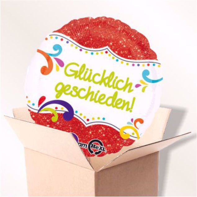 Picture of Folienballon Glücklich geschieden im Karton