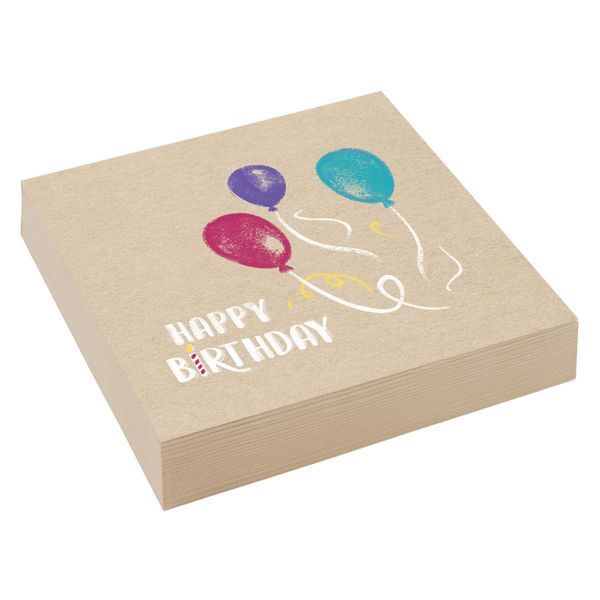 """Picture of 20 Servietten """"Happy Birthday"""" groß"""