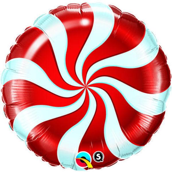 Picture of Folienballon Bonbon Wirbel rot