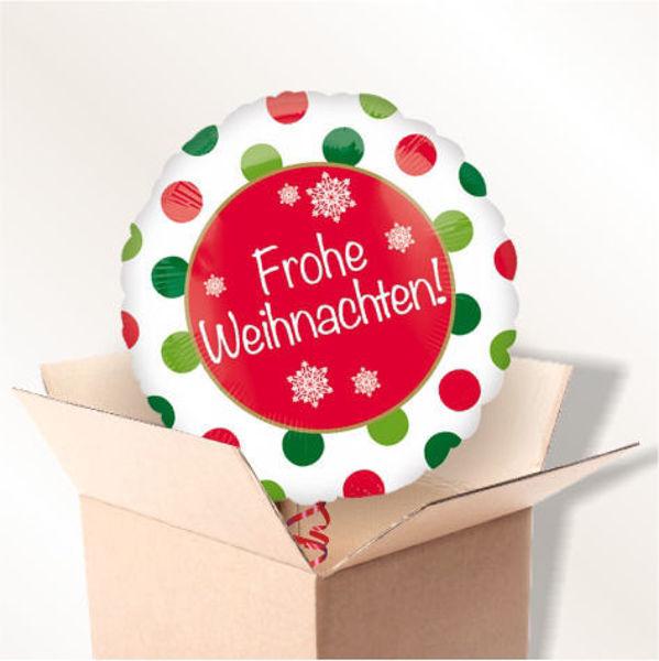 """Picture of Folienballon """"Frohe Weihnachten"""" im Karton"""