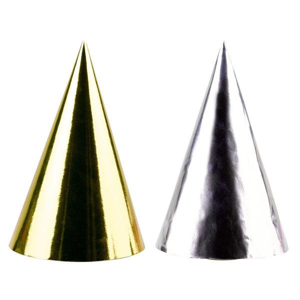 Picture of 4 Partyhütchen Golden Wishes Papier