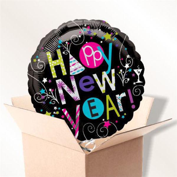"Picture of Folienballon ""Happy New Year"" im Karton"