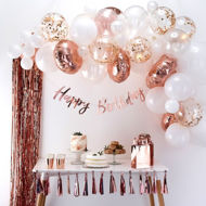 Picture of Rosegold Ballongirlanden Set