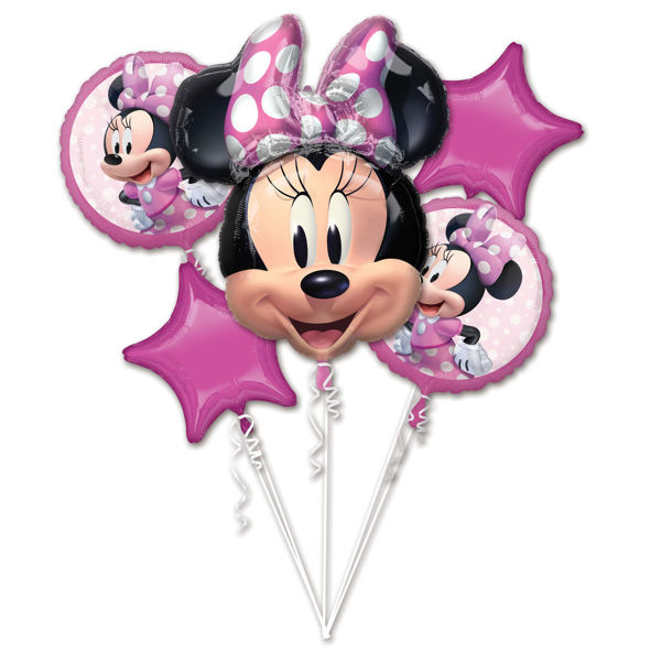 Picture of Folienballon Bouquet Set Minnie Mouse Geburtstag