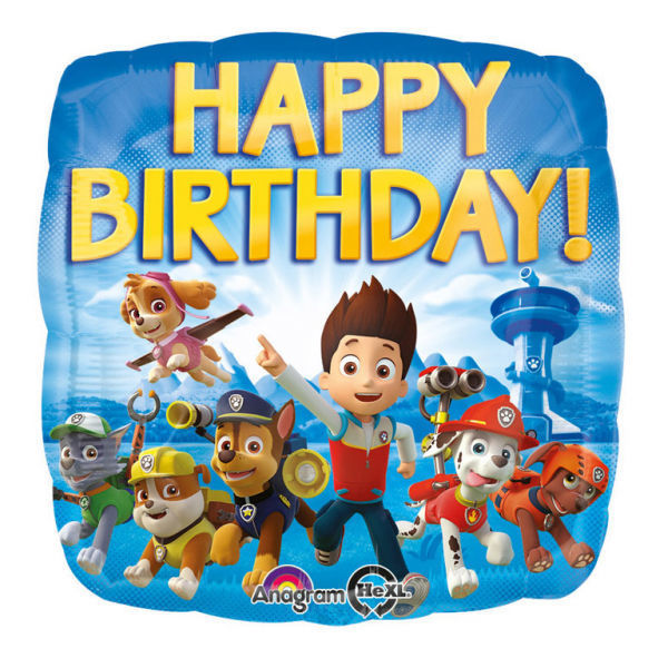 "Picture of Folienballon 18"" Paw Patrol Happy Birthday"
