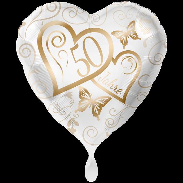 """Picture of 50 Jahre Goldene Hochzeit Folienballon 28"""" XXL"""