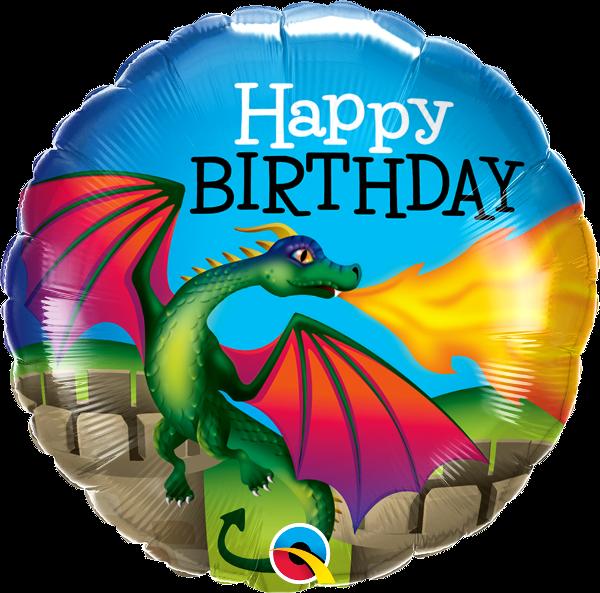 "Picture of BIRTHDAY MYTHICAL DRAGON Folienballon 18"""