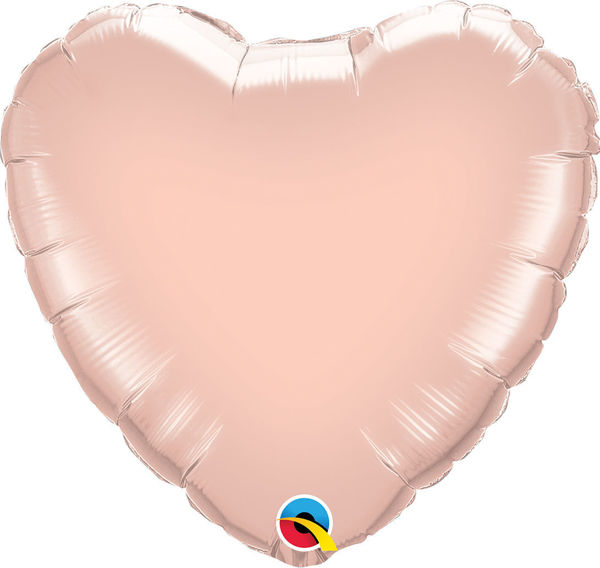 Picture of Folienballon Herz 45cm Rose Gold