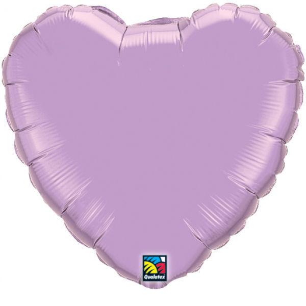 Picture of Folienballon Herz 90cm Pearl Lavendel