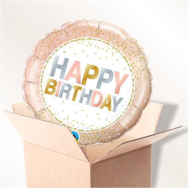 Picture of Folienballon Happy Birthday im Karton