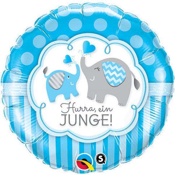 "Picture of Hurra ein Junge Elefant Folienballon 18"""