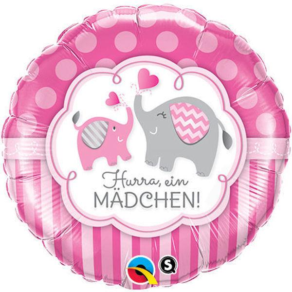 "Picture of Hurra ein Mädchen Elefant Folienballon 18"""
