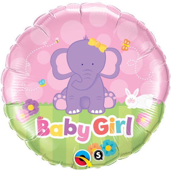 "Picture of Baby Girl Elephant Folienballon 18"""