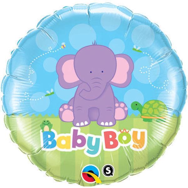 "Picture of Baby Boy Elephant Folienballon 18"""
