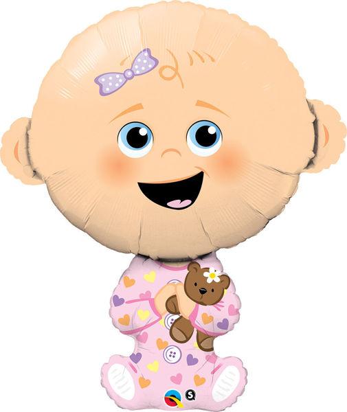 """Picture of Baby Mädchen Folienballon 39"""""""