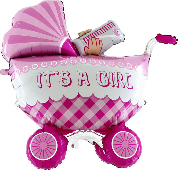 Picture of It's a baby girl buggy Folienballon 42""