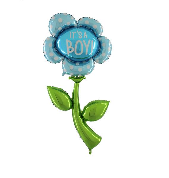 Picture of It's a boy Blume Folienballon XXL