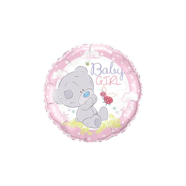 "Picture of Teddy baby girl folienballon 18"""