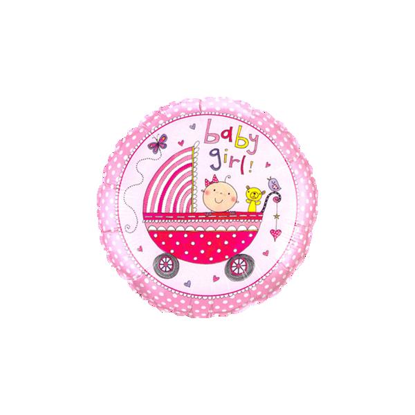 """Picture of Baby Girl stroller folienballon 18"""""""